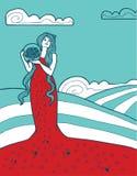 Bello fondo per l'etichetta del vino rosso royalty illustrazione gratis