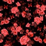 Bello fondo senza cuciture delle rose illustrazione vettoriale