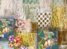 Bello fondo variopinto e progettazione floreale illustrazione di stock