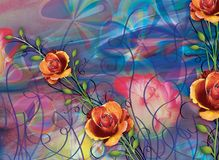 Bello fondo variopinto e progettazione floreale Fotografia Stock