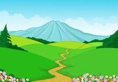 Bello fondo verde del paesaggio illustrazione di stock