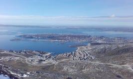 Bello FromMountain Groenlandia Nuuk Woaw Fotografia Stock Libera da Diritti