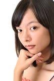 Bello fronte asiatico della donna immagine stock