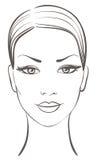 Bello fronte della donna royalty illustrazione gratis