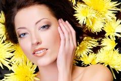 Bello fronte femminile Fotografia Stock Libera da Diritti