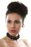 Bello fronte femminile del primo piano Immagini Stock