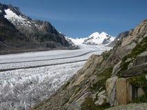 Bello ghiacciaio di Aletsch Immagini Stock Libere da Diritti