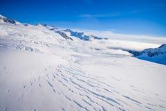 Bello ghiacciaio vicino a Queenstown, Josef Glacier National Park, in Nuova Zelanda nelle alpi australiane Fotografia Stock Libera da Diritti