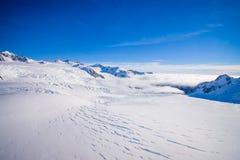 Bello ghiacciaio vicino a Queenstown, Josef Glacier National Park, in Nuova Zelanda nelle alpi australiane Immagine Stock Libera da Diritti