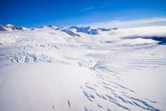 Bello ghiacciaio vicino a Queenstown, Josef Glacier National Park, in Nuova Zelanda nelle alpi australiane Immagini Stock Libere da Diritti