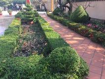 Bello giardino al tempio di Wat Preah Prom Rath in Siem Reap, Cambogia immagine stock libera da diritti
