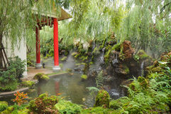 Bello giardino cinese Immagini Stock