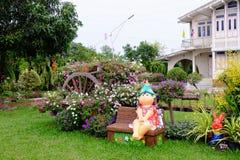 Bello giardino di fiore fotografia stock