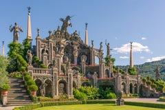 Bello giardino e statue barrocco Fotografia Stock Libera da Diritti