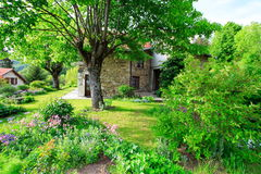 Bello giardino francese Fotografia Stock