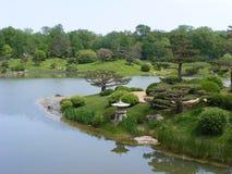 Bello giardino giapponese Fotografie Stock Libere da Diritti