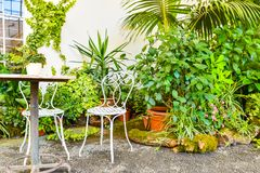 Bello giardino, Unesco francese di stile, Kvetna Zahrada, Kromeriz, repubblica Ceca fotografia stock libera da diritti