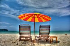 Bello giorno dalla spiaggia Fotografia Stock