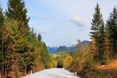 Bello giorno di autunno nelle alpi austriache Fotografia Stock