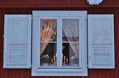 Bello giorno di dicembre nella città della chiesa di Gammelstad Fotografie Stock Libere da Diritti