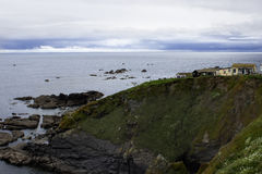 Bello giorno soleggiato alla baia Cornovaglia Inghilterra di Housel Fotografia Stock Libera da Diritti