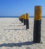 Bello giorno soleggiato della spiaggia Fotografie Stock Libere da Diritti