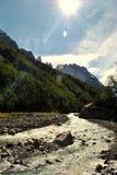 Bello giorno in Torres del Paine Immagini Stock Libere da Diritti