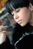 Bello giovane brunette Fotografie Stock