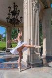 Bello giovane dancing della ballerina, stante dentro Immagini Stock