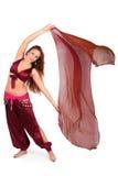 Bello giovane danzatore di pancia con un velare immagini stock libere da diritti