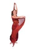Bello giovane danzatore di pancia con un velare fotografie stock libere da diritti