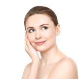 Bello giovane fronte femminile Immagini Stock