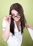 Bello giovane medico femminile Immagini Stock Libere da Diritti