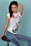 Bello giovane modello femminile Immagini Stock Libere da Diritti