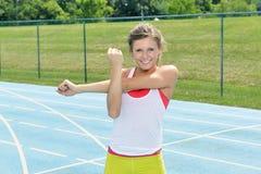 Bello giovane modello femminile di forma fisica Immagine Stock