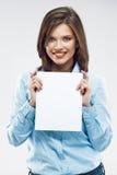 Bello giovane ritratto della donna di affari fotografie stock