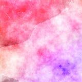 Bello grafico di progettazione del fondo dell'acquerello della pittura di effetto viola rosa di struttura Immagine Stock