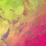 Bello grafico di progettazione del fondo di schizzo della pittura di effetto rosa verde di struttura Fotografia Stock Libera da Diritti