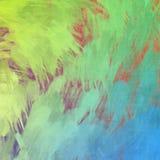 Bello grafico di progettazione del fondo di schizzo della pittura di effetto verde blu di struttura Fotografia Stock Libera da Diritti