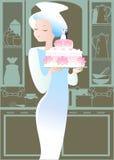 Bello grafico a torta di cerimonia nuziale Fotografia Stock Libera da Diritti