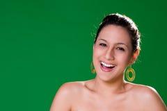 Bello grande sorriso naturale Fotografia Stock