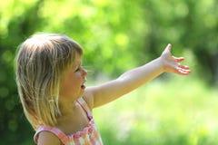 Bello gridare della bambina Fotografia Stock Libera da Diritti