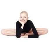 Bello gymnast biondo Fotografie Stock Libere da Diritti