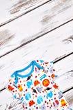 Bello indumento del cotone di progettazione del bambino fotografia stock