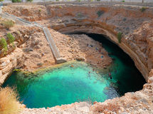 Bello inghiottitoio di Bimmah, Oman Fotografia Stock Libera da Diritti