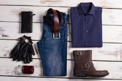 Bello insieme dei vestiti di affari Fotografia Stock