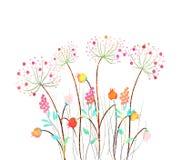 Bello insieme del fiore dell'acquerello sopra fondo bianco per progettazione illustrazione vettoriale
