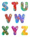 Bello insieme di alfabeto delle lettere, parte 3 illustrazione di stock