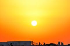 Bello insieme di Sun Fotografia Stock