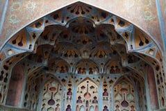 Bello interno di Ali Qapu Palace a Ispahan, Iran Fotografie Stock